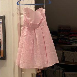 Strapless seersucker Lauren James dress